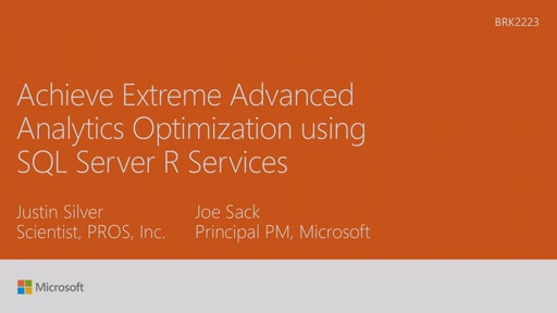 Achieve extreme advanced analytics optimization using SQL Server 2016 R Services