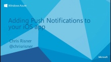 iOS - Add Push Notifications to your Apps with Windows Azure Mobile Services