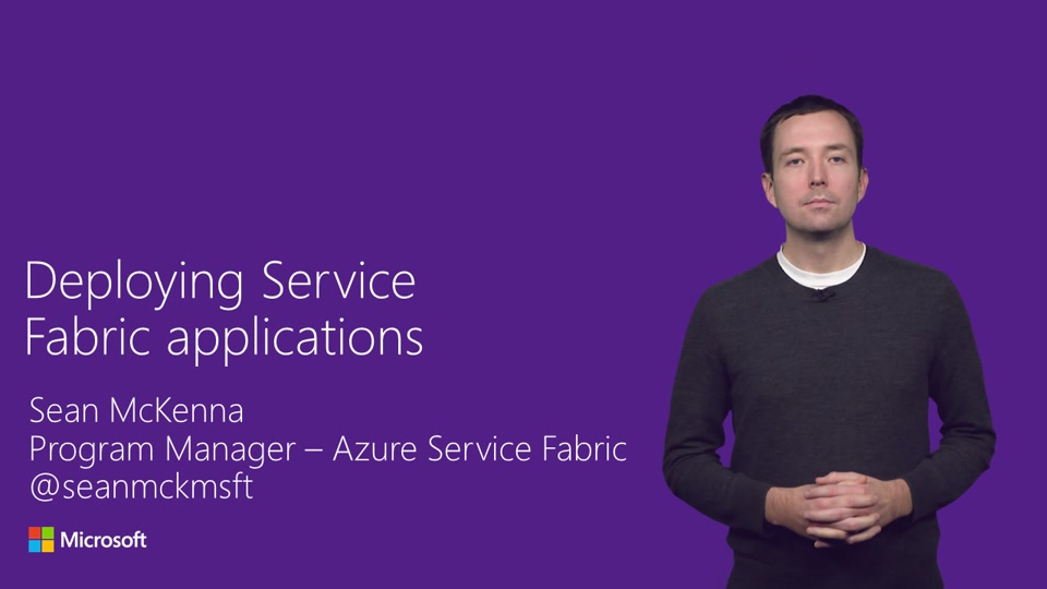 Deploying your application to Service Fabric