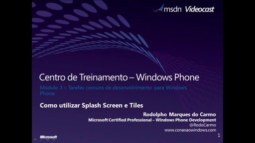 Windows Phone 7 - Como utilizar Splash Screen e Tiles