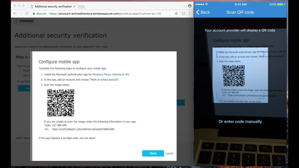 1  How to set up Microsoft Authenticator for Multi-Factor Authentication in  Azure Active Directory (1/2)