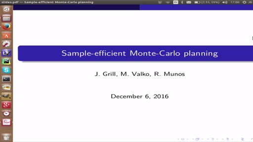 Blazing the trails before beating the path: Sample-efficient Monte-Carlo planning