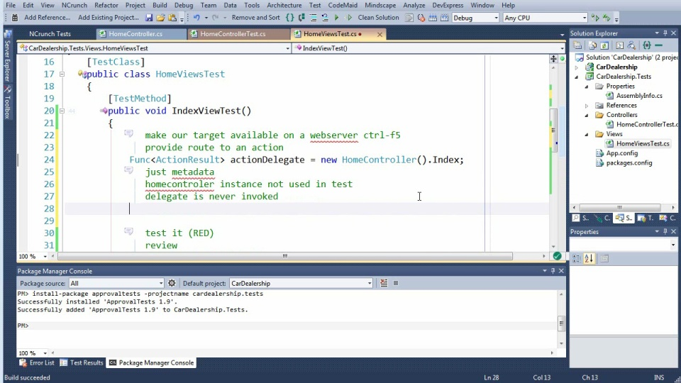 Testing ASP.NET MVC Views, from New Project to the Build Server