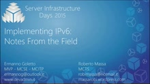Implementing IPv6: Notes From the Field - WS01