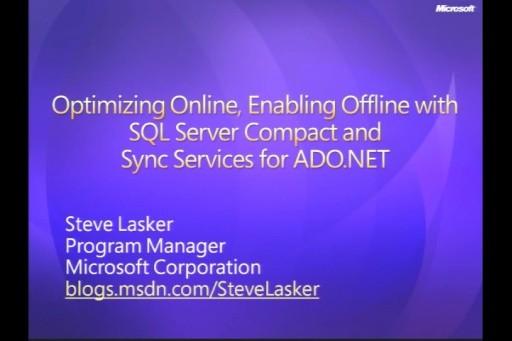VS2008 Training Kit: ADO Synchornization Services