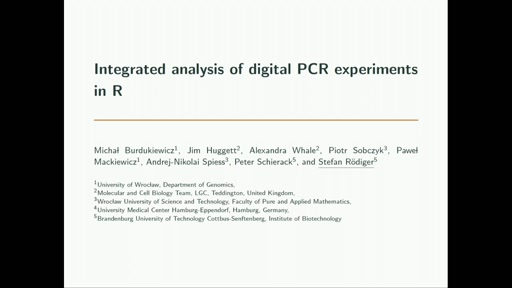 Integrated analysis of digital PCR experiments in R