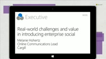 Cargill: Real-world challenges and value in introducing enterprise social
