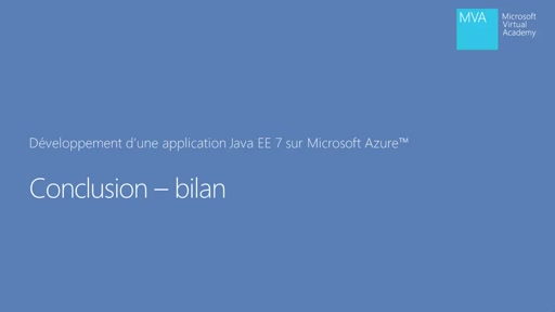 Application Java EE 7 dans Microsoft Azure - Conclusion du cours