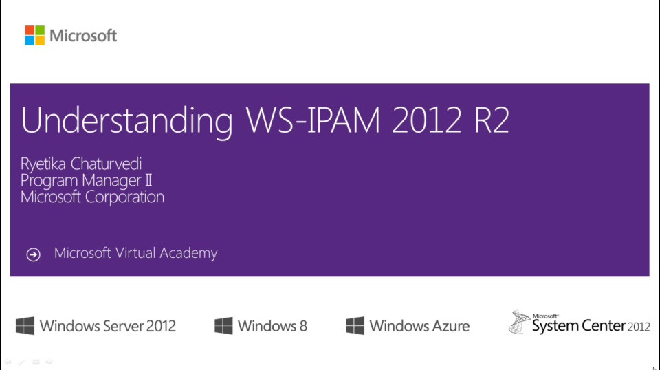 (Module 1) Overview of IPAM in Windows Server 2012 R2