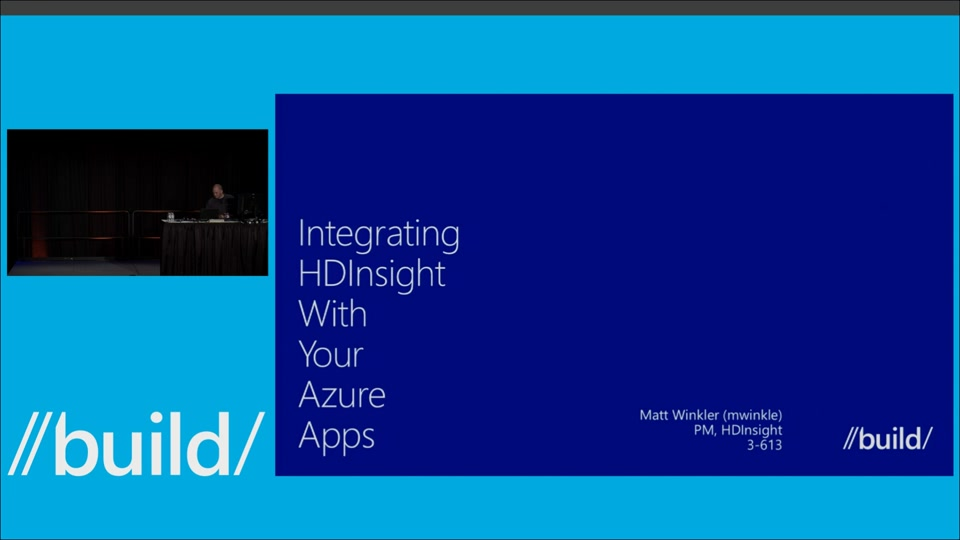 Integrating HDInsight with your Azure Apps
