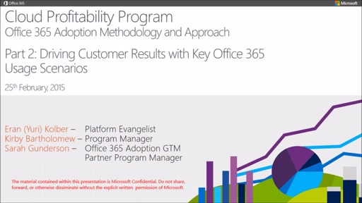 MPN Training Cloud Profitability Webcasts - Part 2: : Driving Customer Results with Key Microsoft Office 365 Usage Scenarios