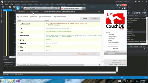 Create a simple CouchDB application for Windows 8 with JavaScript