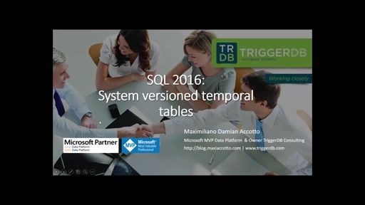 SQL 2016: System Versioned temporal Tables