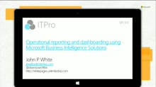 Operational reporting and dashboarding using Microsoft Business Intelligence Solutions
