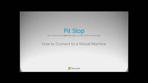 How to connect to a Virtual Machine