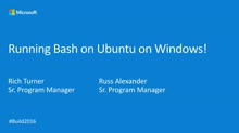 Running Bash on Ubuntu on Windows!