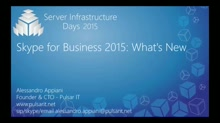 Skype for Business 2015: What's New - CP01