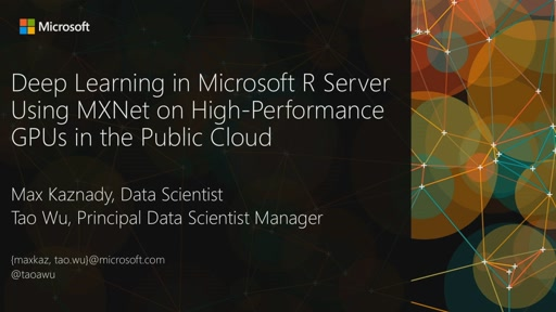 Deep Learning in Microsoft R Server Using MXNet on High-Performance GPUs in the Public Cloud
