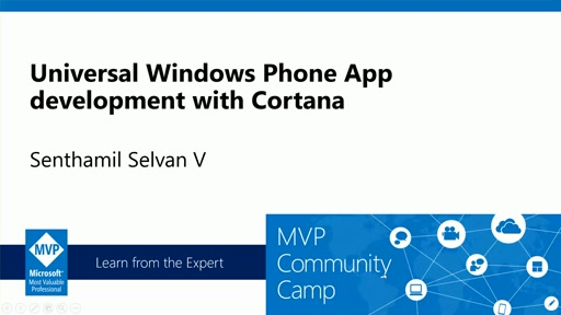 Universal Windows App development using Cortana.