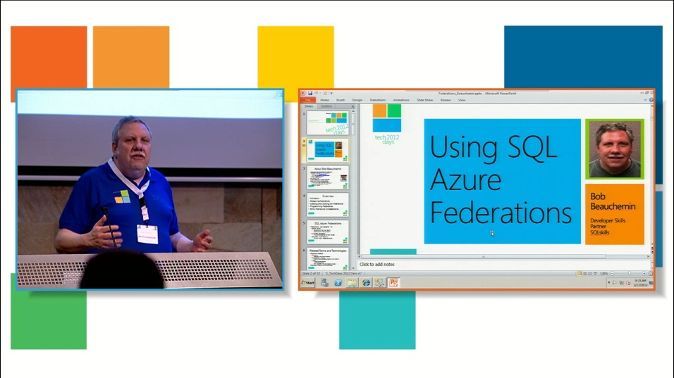 Using SQL Azure Database Federations