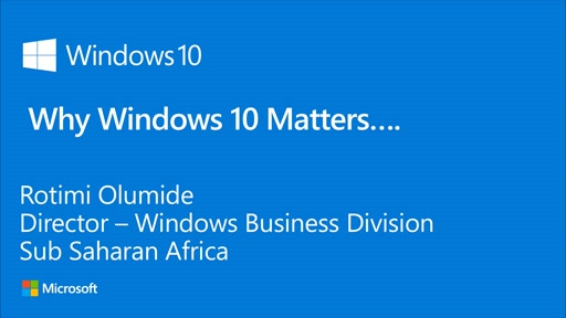 Why Windows 10 matters