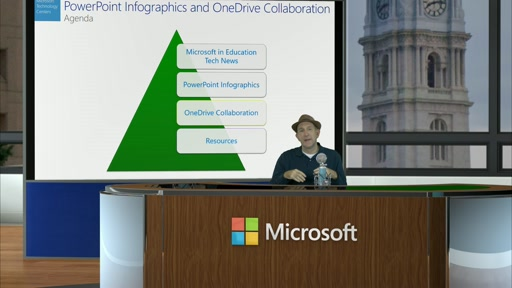 2015-11-02 This Month In Education PowerPoint Infographics and OneDrive Collaboration