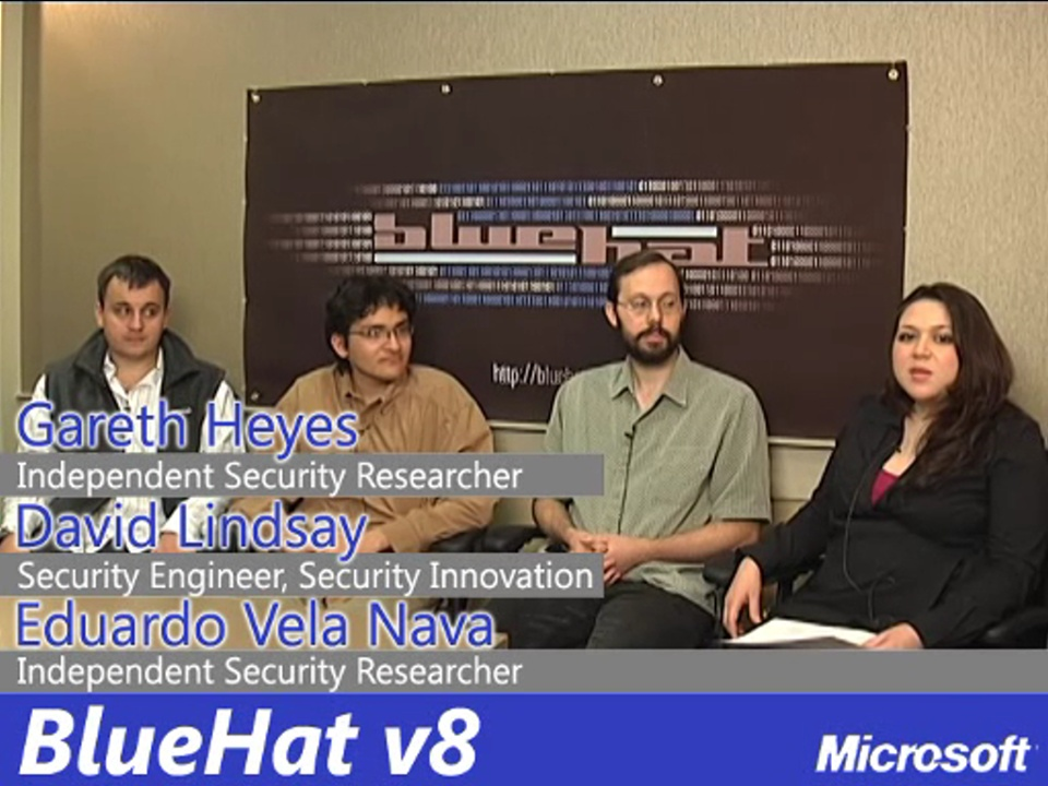 Interview with Katie Moussouris with Gareth Heyes, Eduardo Vela Nava & David Lindsay