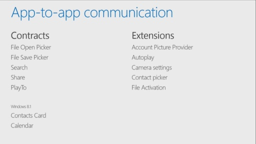 Building Windows Store Apps for iOS Developers: (06) Contracts