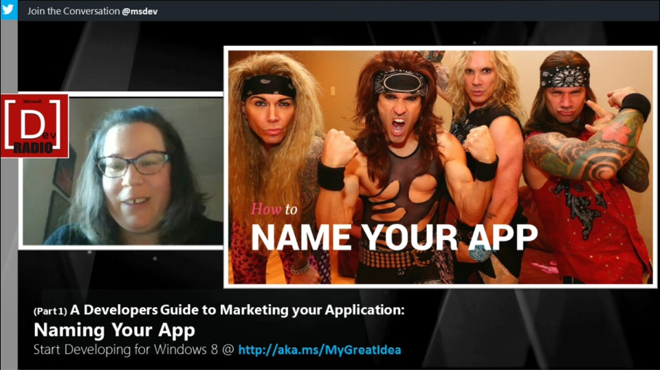 Microsoft DevRadio: (Part 1) A Developers Guide to Marketing Your App - Naming Your App