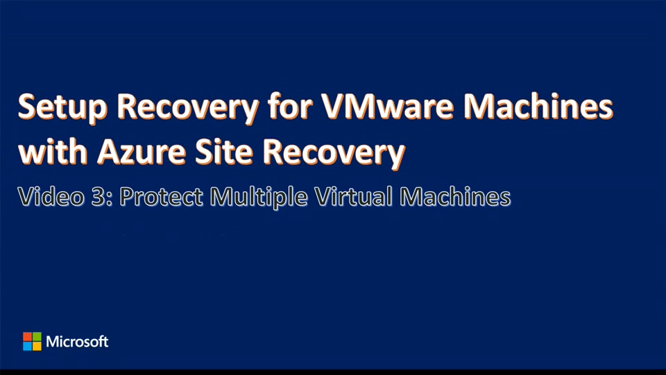 Enhanced VMware to Azure Protection