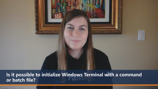 Is it possible to initialize Windows Terminal with a command or batch file? | One Dev Question