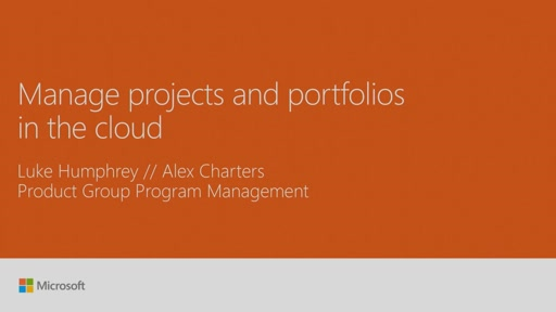 Manage projects and portfolios in the cloud
