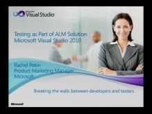 Next Generation Testing Part 1: Rachel Pekin on Visual Studio ALM