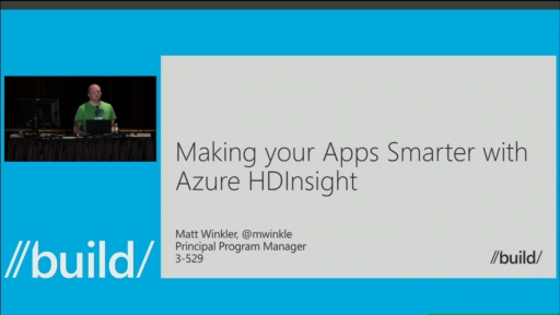 Make Your Apps Smarter with Azure HDInsight