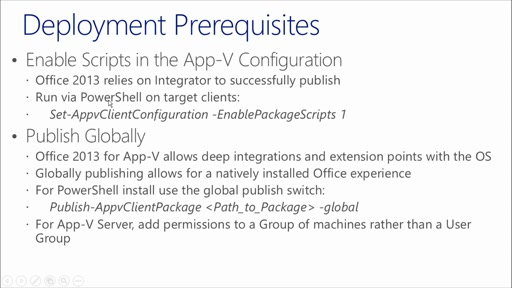 Deploying Office 2013 with App-V: (03) Deployment
