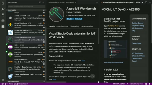 Introduction to the new IoT Workbench extension for VS Code