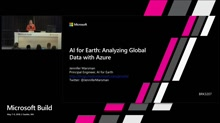 AI for Earth : Analyzing Global Data with Azure