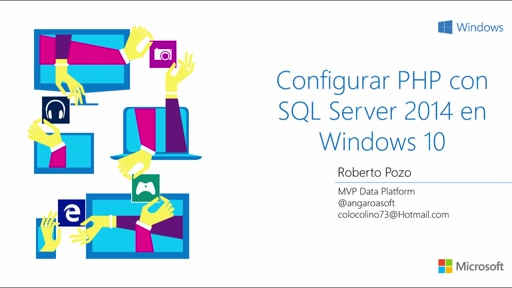 Configurar PHP con SQL Server 2014 en Windows 10