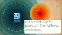 Overview of ECM for teams with Site Mailboxes