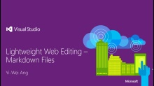 Lightweight Web Editing with Markdown Files in Visual Studio Online