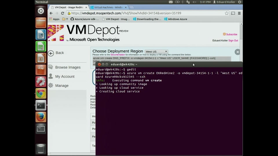 Thousands of free Linux virtual machines in VM Depot