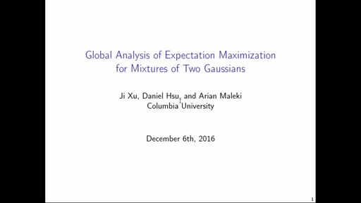 Global Analysis of Expectation Maximization for Mixtures of Two Gaussians