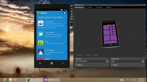 Sencha Touch theme for Windows Phone 8