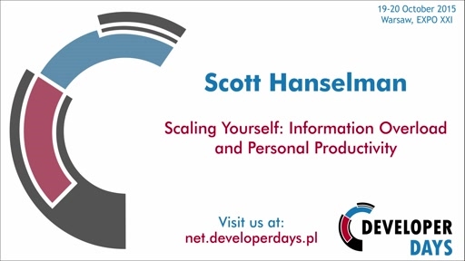 Scaling Yourself: Information Overload and Personal Productivity- Scott Hanselman