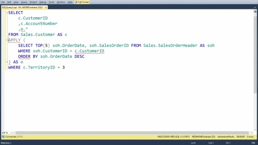 Querying Microsoft SQL Server 2012 Databases: (05) SET Operators Grouping and Windows Functions