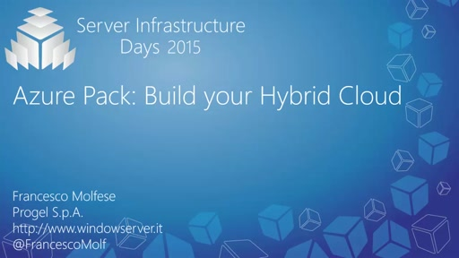 Azure Pack: Build your Hybrid Cloud - SC03