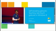 Self-Revealing Gestures: Teaching New Touch Gestures in Windows 8