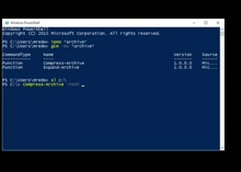 PowerShell 5 - Importing a Module and Compressing an Archive