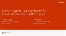 Design a great user experience for Universal Windows Platform apps