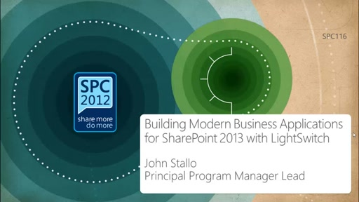 Building Modern Business Applications for SharePoint 2013 with Visual Studio LightSwitch
